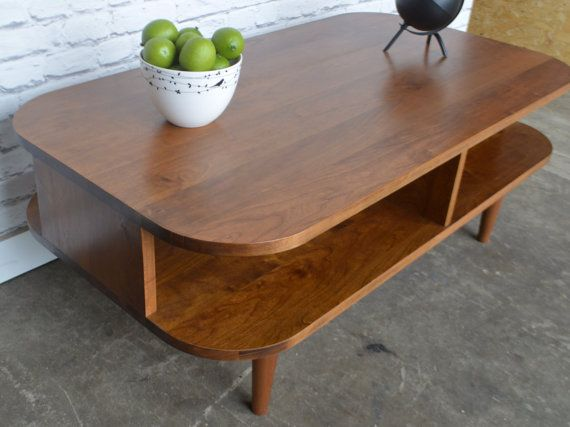 Beautiful And Stylish Coffee Table Inspired By The Straight Lines And  Warmth Of Mid Century Modern Furniture. This Version Incorporates Rounded