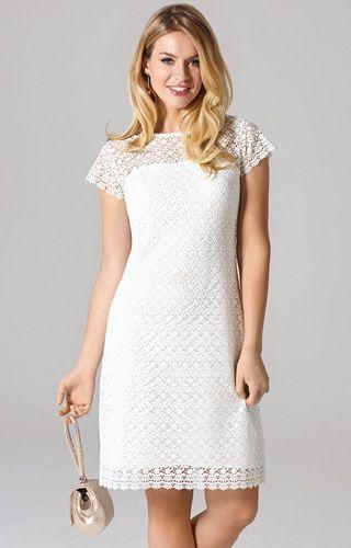 Kleid Nadia kurz Elfenbein   Brautkleid, Kurze elegante ...