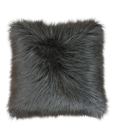 Look what I found on #zulily! Charcoal Square Mongolian Pillow #zulilyfinds
