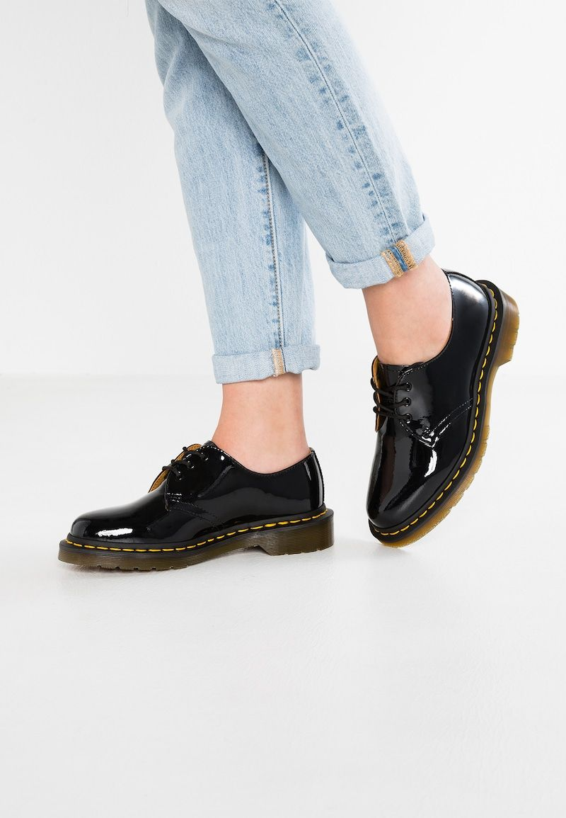 1461 3 Eye Shoe Patent Lamper Lace Ups Black Zalando Co Uk In 2020 Patent Shoes Derby Shoes Women Patent Leather Shoes