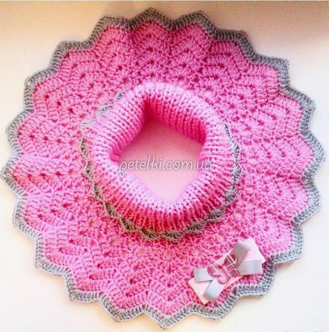 Dickey pour les filles. Rayons + crochet. La description du système de tricotage