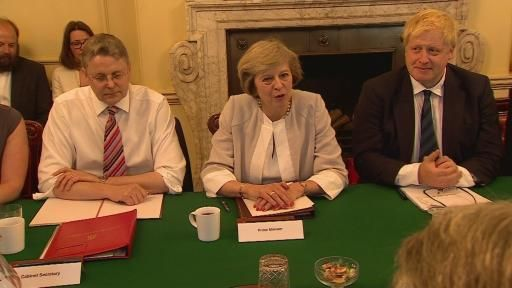 Inside Prime Minister Theresa May's first Cabinet meeting | Met