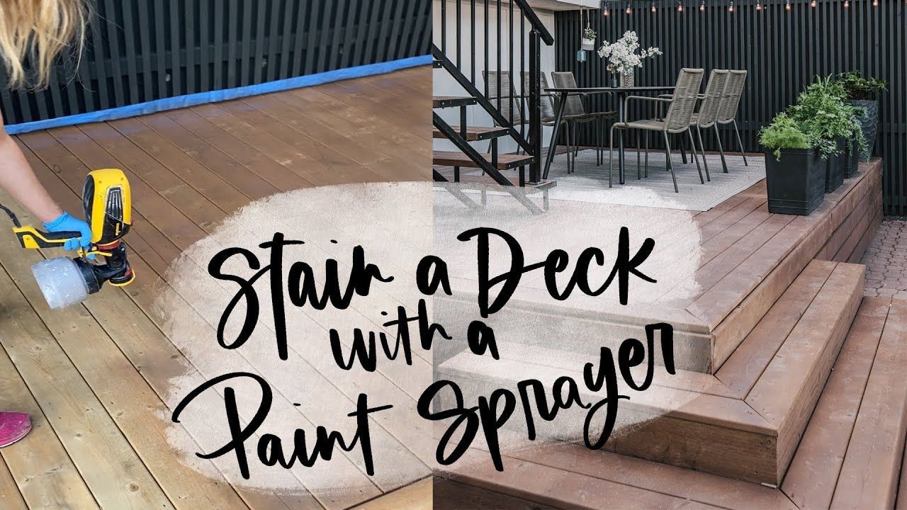 How to stain a deck with a paint sprayer staining deck