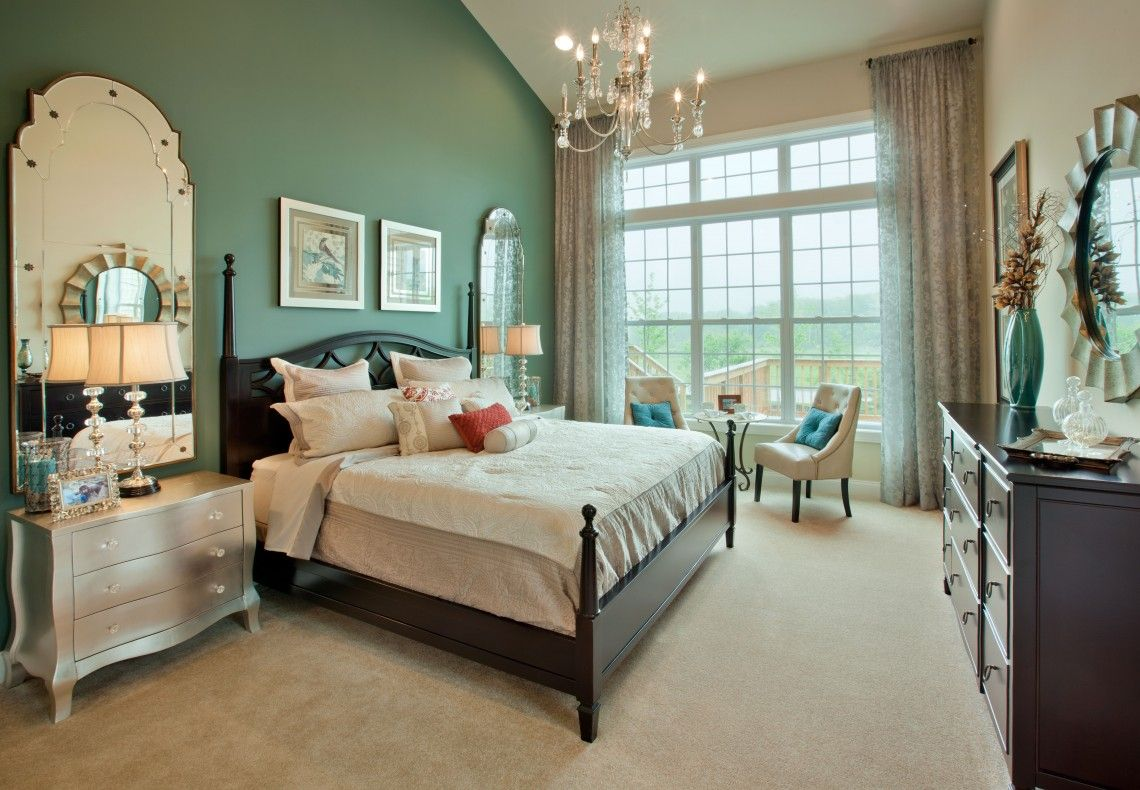 bedroom-interior-marvelous-green-mixed-white-wall-paint ...