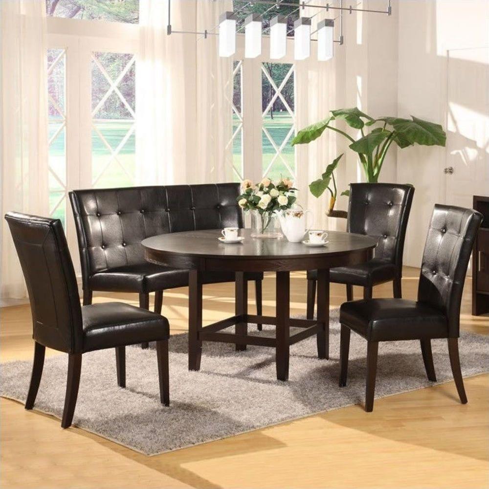 Modus Furniture Modus Bossa 5 Piece 54 Inch Round Dining Table Set