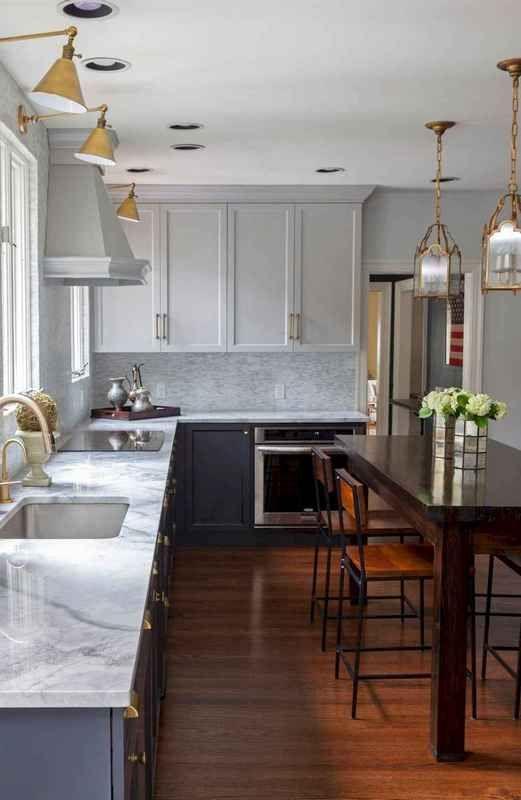 72 Elegant Gray Kitchen Cabinet Makeover Design Ideas #graycabinets