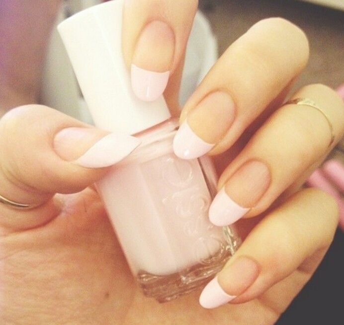 french manicure on rounded nails... worth a try | Beauty | Nails ...