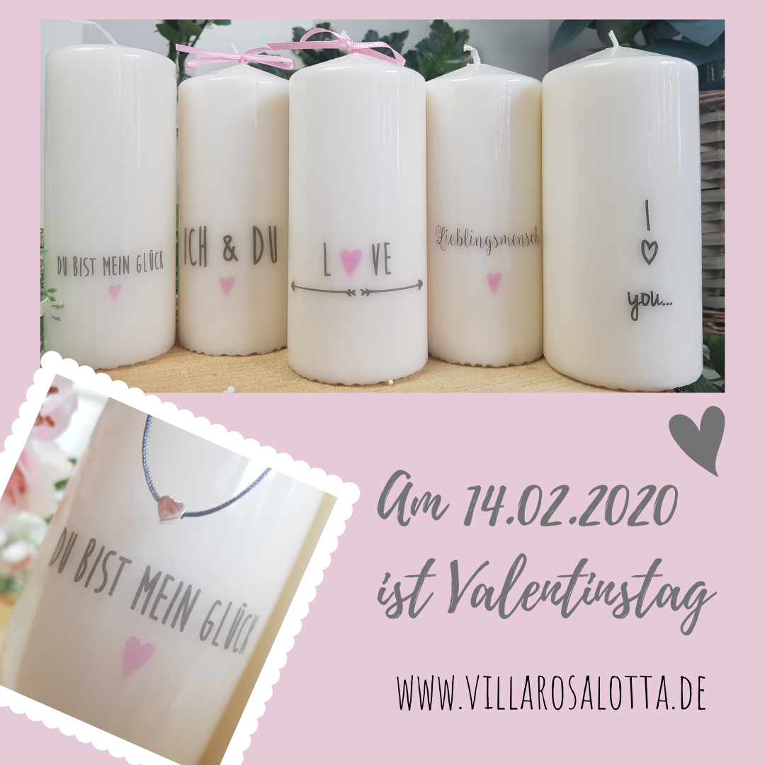Valentinstag mit personalisierten Kerzen feiern        Remember ... February 14th is Valentine's Day! Candles and matching bracelets are a nice gift!    # füralleverliebten #valentinstag #valentinstagsgeschenk #candles #Celebrate #day #Personalized #Valentines #Valentinstagsgeschenke für ihn