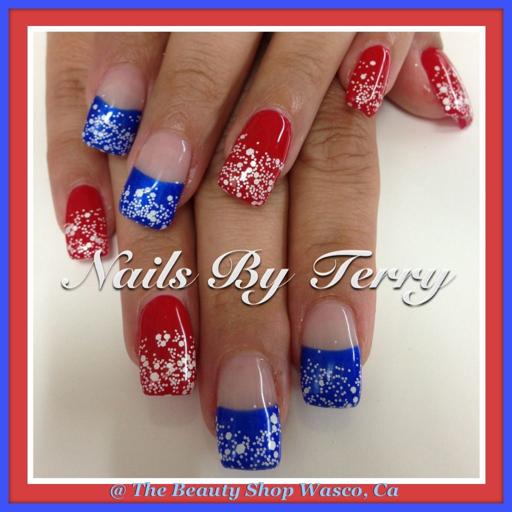 gel nails 4th of july