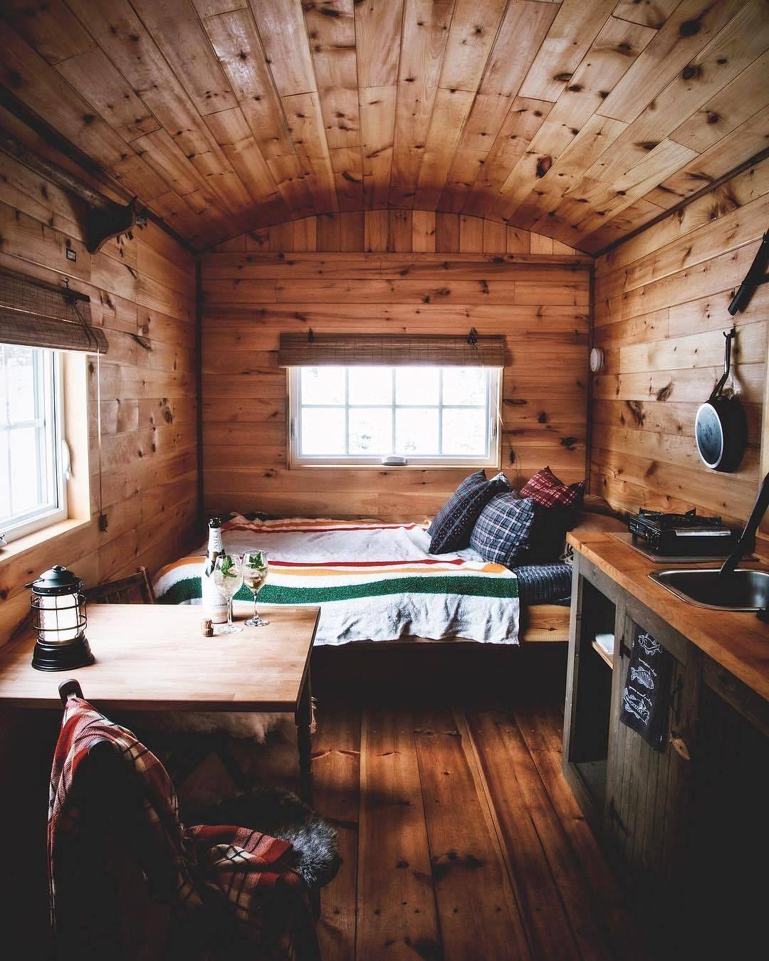 Cozy Tiny House In Quebec Tiny Cabins Interiors Tiny House
