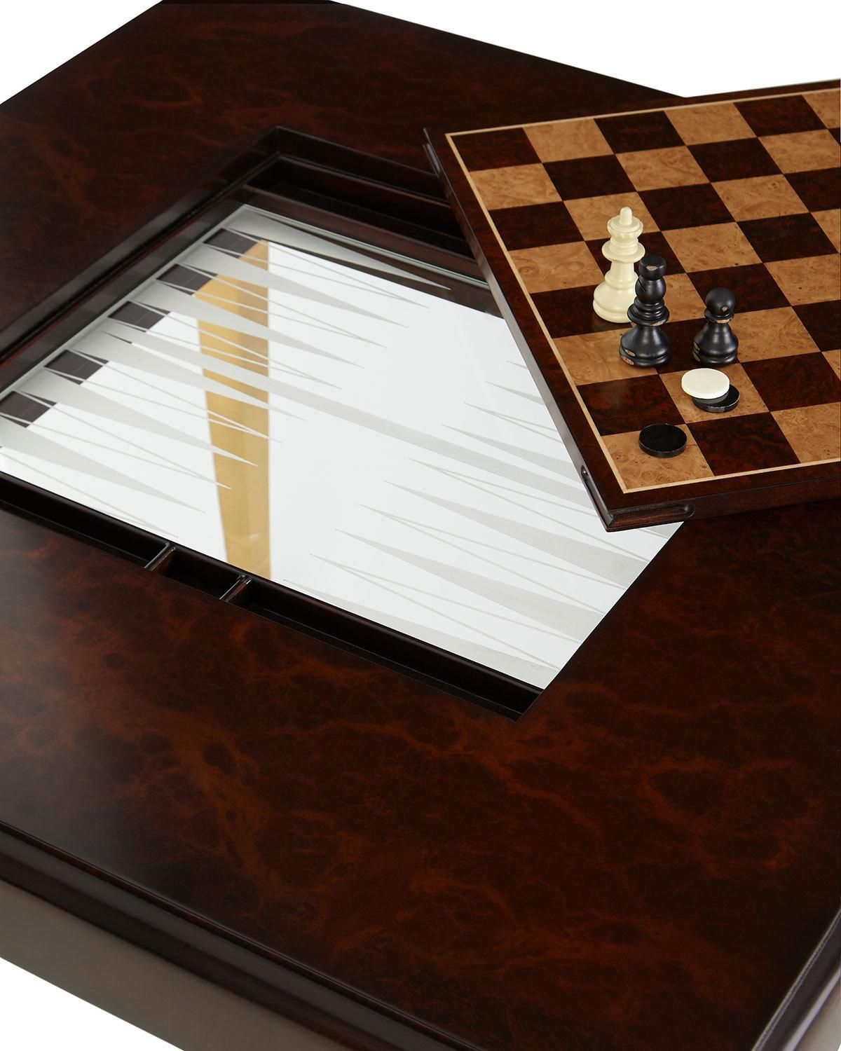 Walden Chess Backgammon Game Table Backgammon Game Game Room