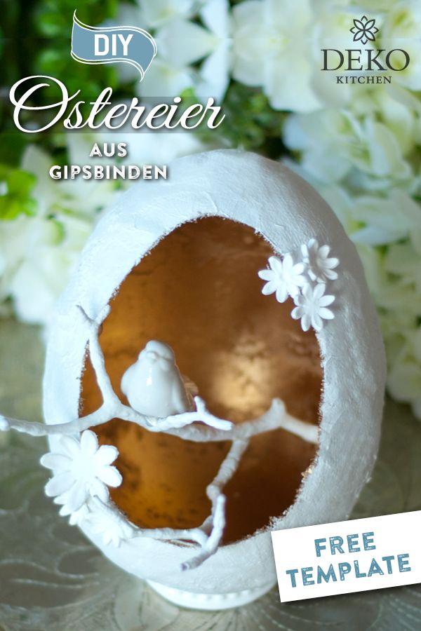 DIY: außergewöhnliche Deko-Ostereier aus Gipsbinden