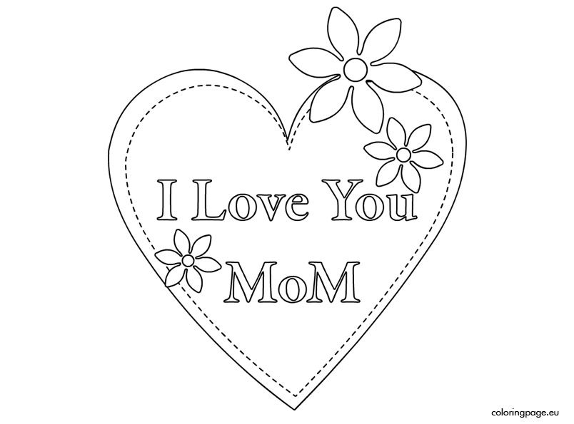 Mother S Day 2015 I Love You Mom I Love You Mom Mom Coloring
