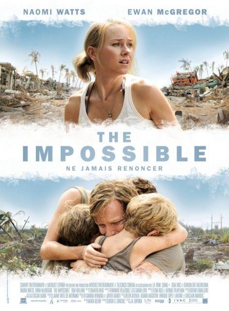 Lo imposible es una producción cinematográfica española de suspenso dramático de 2012. Está dirigida por Juan Antonio Bayona y protagonizada por Naomi Watts, Ewan McGregor, Tom Holland y Samuel Joslin.