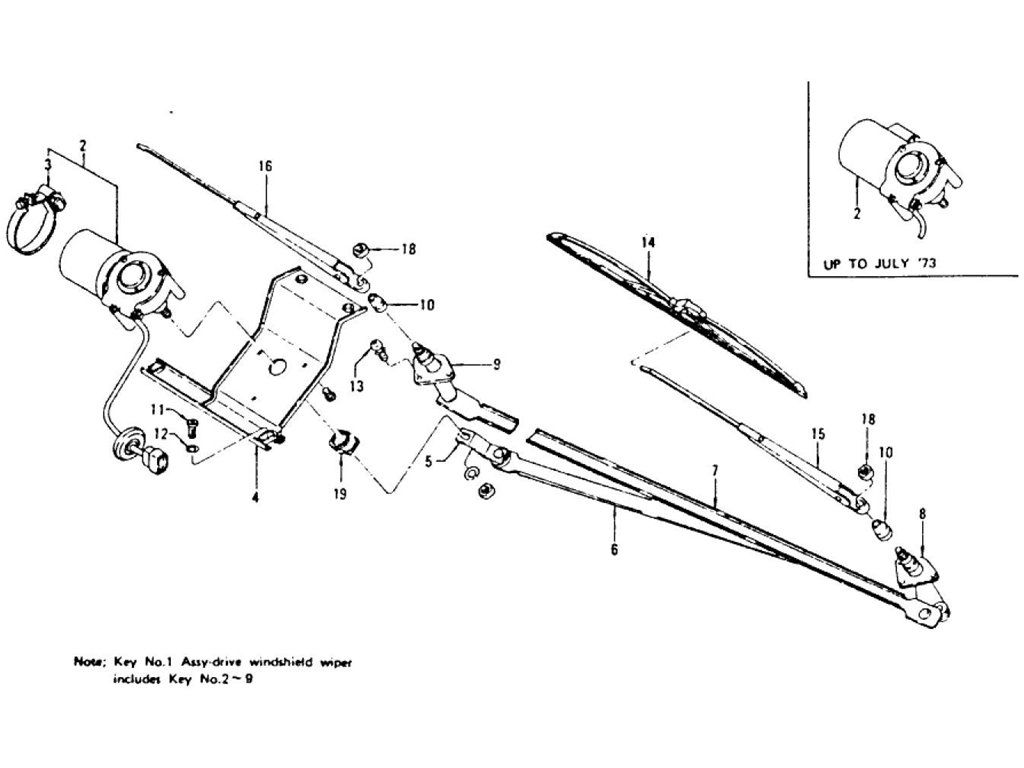 Windshield Wiper Motor Amp Wiper Blade