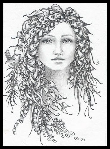 fairy tangles december 2011 zentangle fairy coloring pages fairy coloring coloring pages. Black Bedroom Furniture Sets. Home Design Ideas