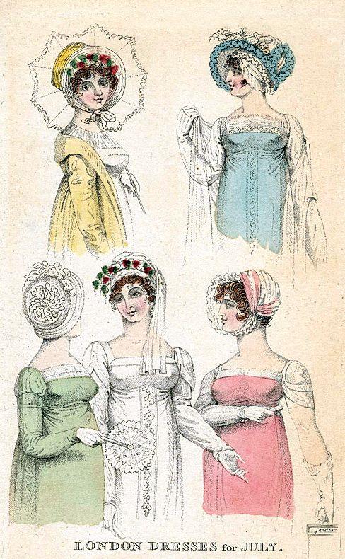 London Dresses for July, 1807.