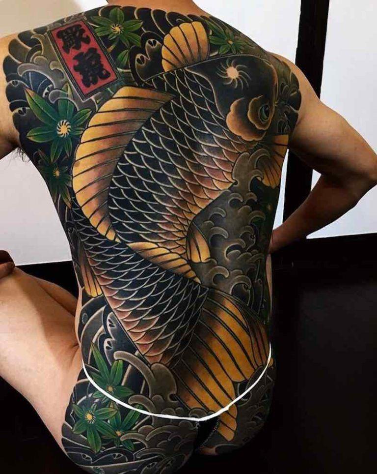 Yakuza Japanese Dragon Tattoo Back