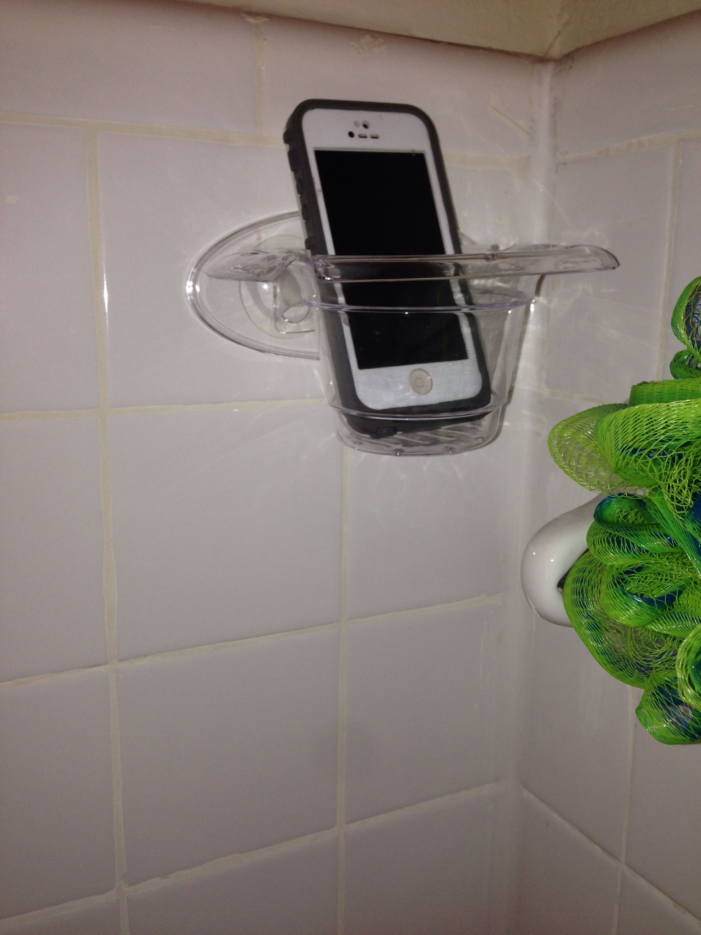 on sale 18361 d468e tree soap dish / phone holder amplifies sound, put at end of shower ...