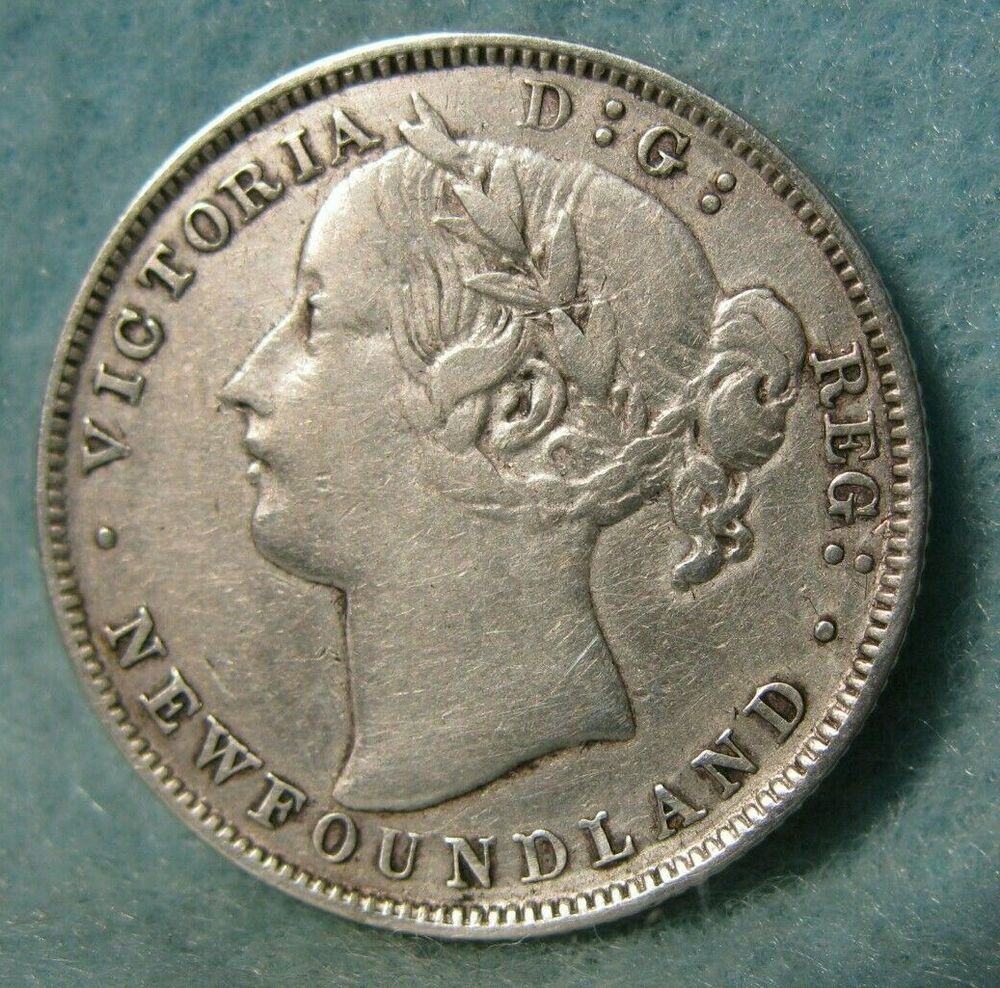 1865 Newfoundland Canada Silver 20 Cents Km 4 Better Grade Canadian Coin 4242 Ebay In 2020 Newfoundland Canada Canadian Coins Newfoundland