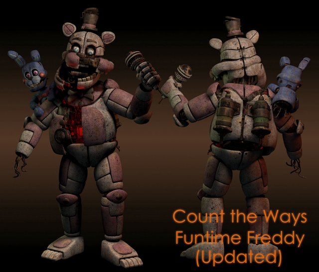 Count The Ways Funtime Freddy Updated Models By Me Fivenightsatfreddys Fnaf Wallpapers Dark Fantasy Art Fnaf Sister Location