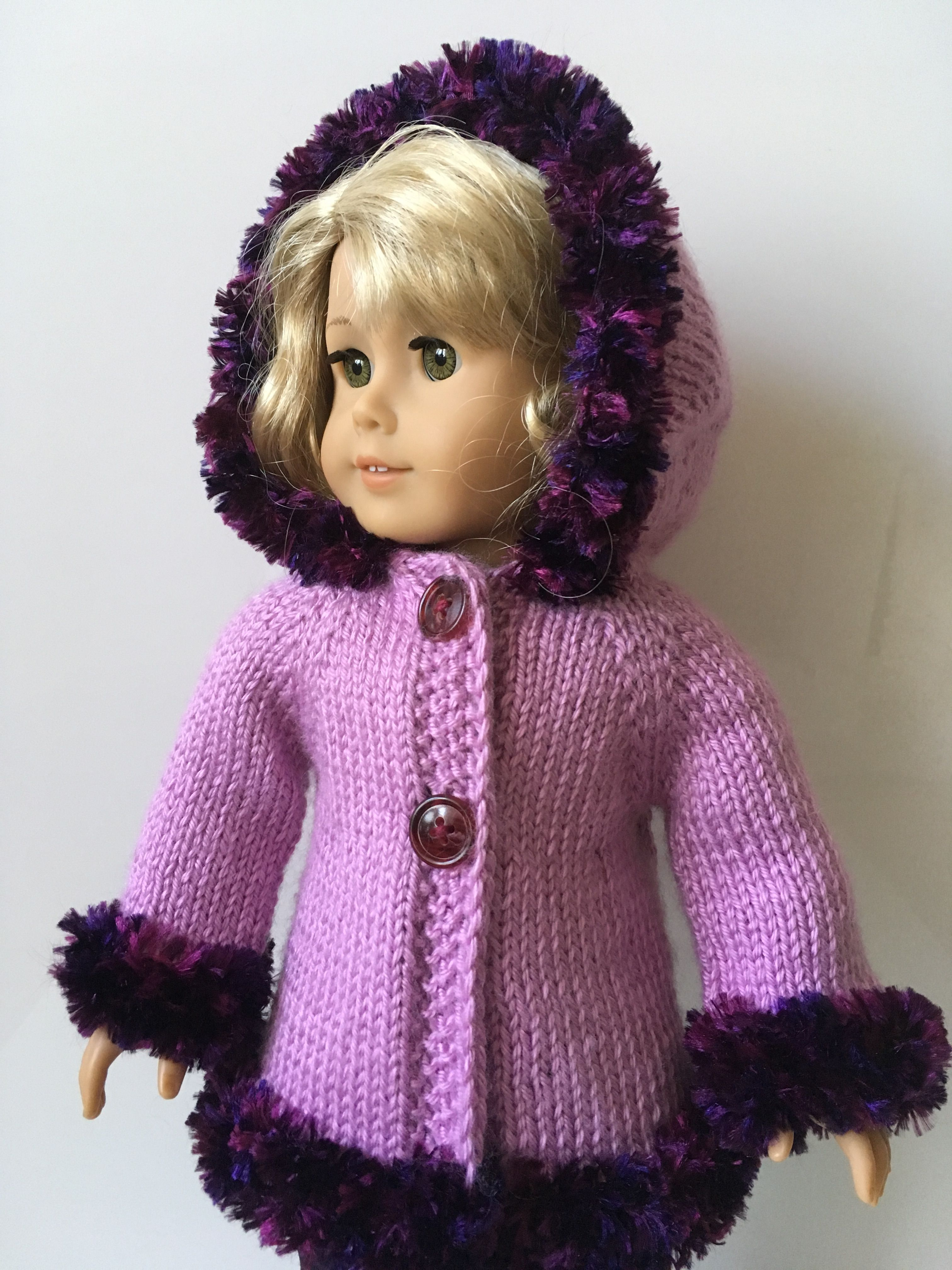 """LT PINK Knit Cardigan Sweater Doll Clothes For 18/"""" American Girl Debs"""