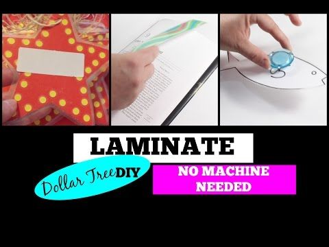 Dollar Tree Diy How To Laminate Without A Laminator Dollar Tree Diy Laminators Laminating Paper