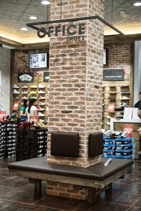 Office Shoes Retail Lighting Design Column Design Store Signage