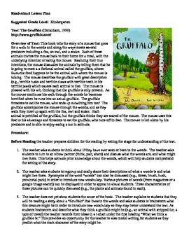 The Gruffalo Read-Aloud Lesson Plan | Lesson plans, The o'jays and ...