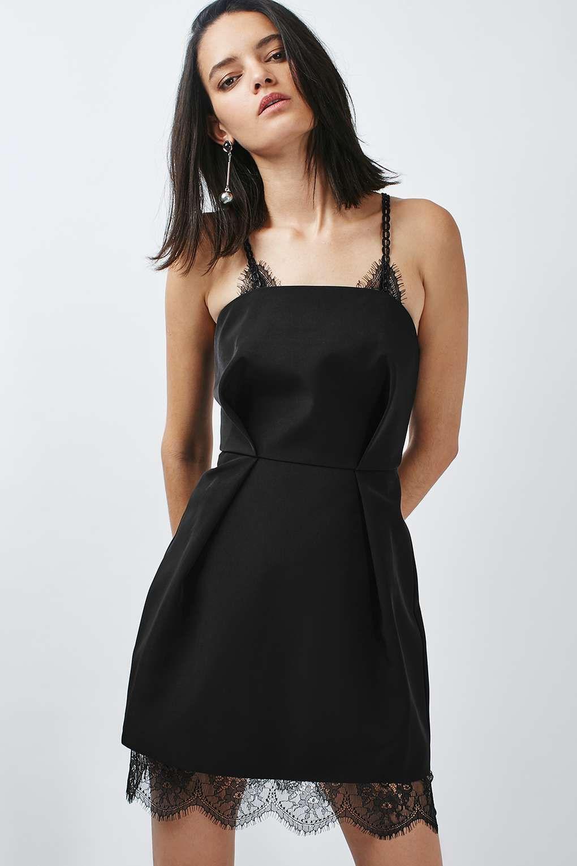 Chain loop lace prom dress black dresses pinterest lace prom