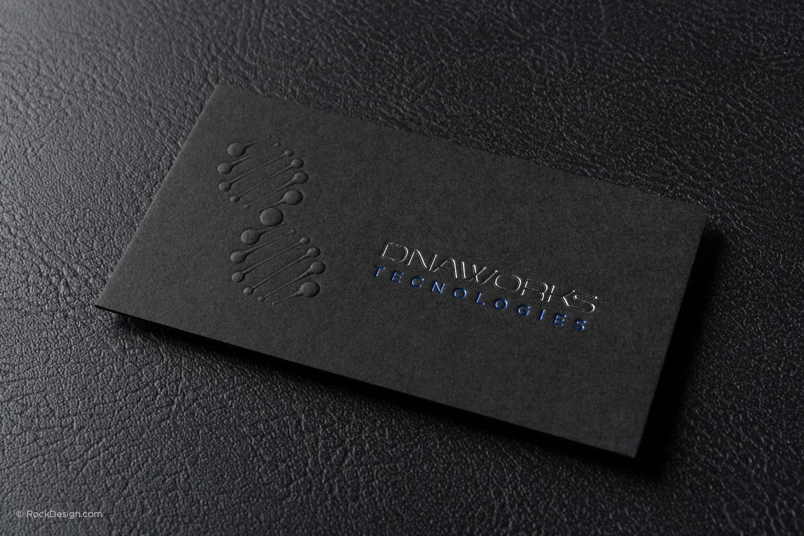Modern professional black business card template with foil dna modern professional black business card template with foil dna works rockdesign luxury business card accmission Gallery
