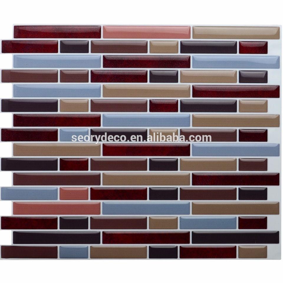 Self Adhesive Tile Sheets Marble Effect Design Splashback Vinyl Wall Stickers