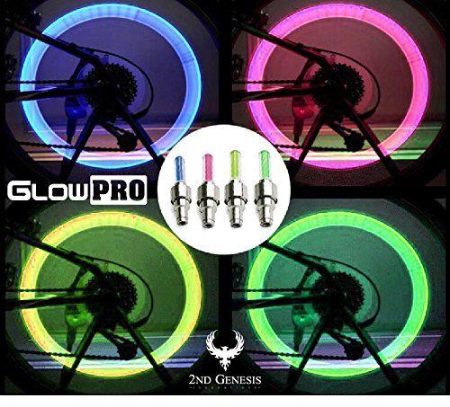 Decorative Bicycle Valve Capss Glowpro Bike Tire Led Valve Stem