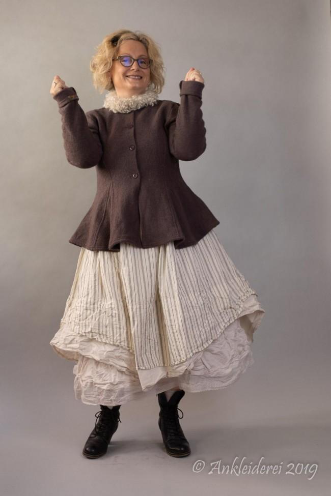 Ewa i Walla Jacket Boiled Wool Dark Lavender 66329 AW19 in ...