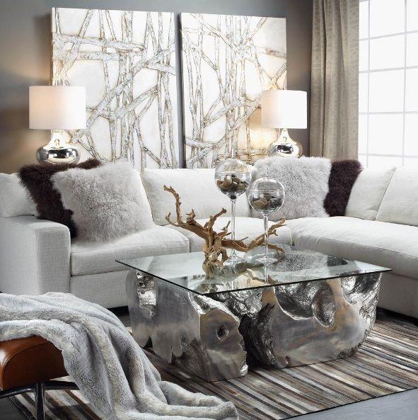 Luxury Amp Glamour White Taupe Gilded Finishes Organic
