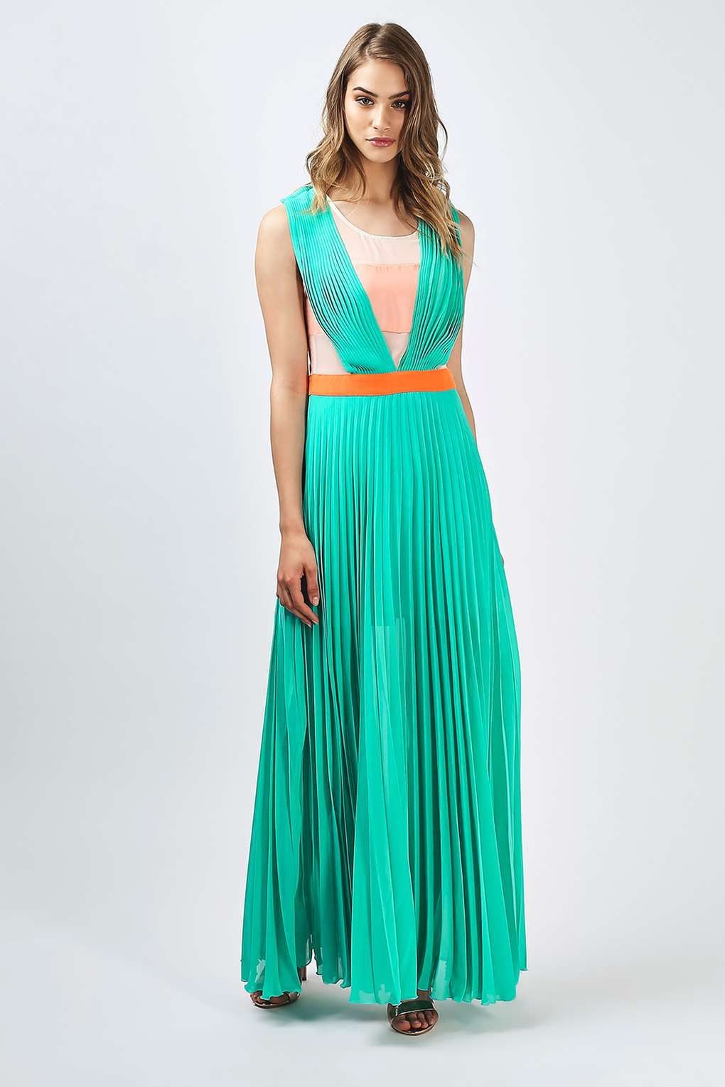 9cb165d3d24 Neon Town Pleated Maxi Dress by Jovonna - Brands