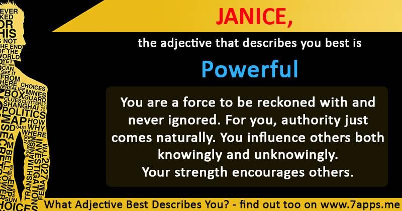 What Adjective Best Describes You Information Pinterest