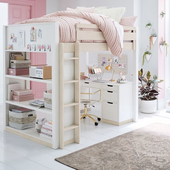 Rhys Loft Bed with Desk Set in 2020 Girls loft bed, Kids