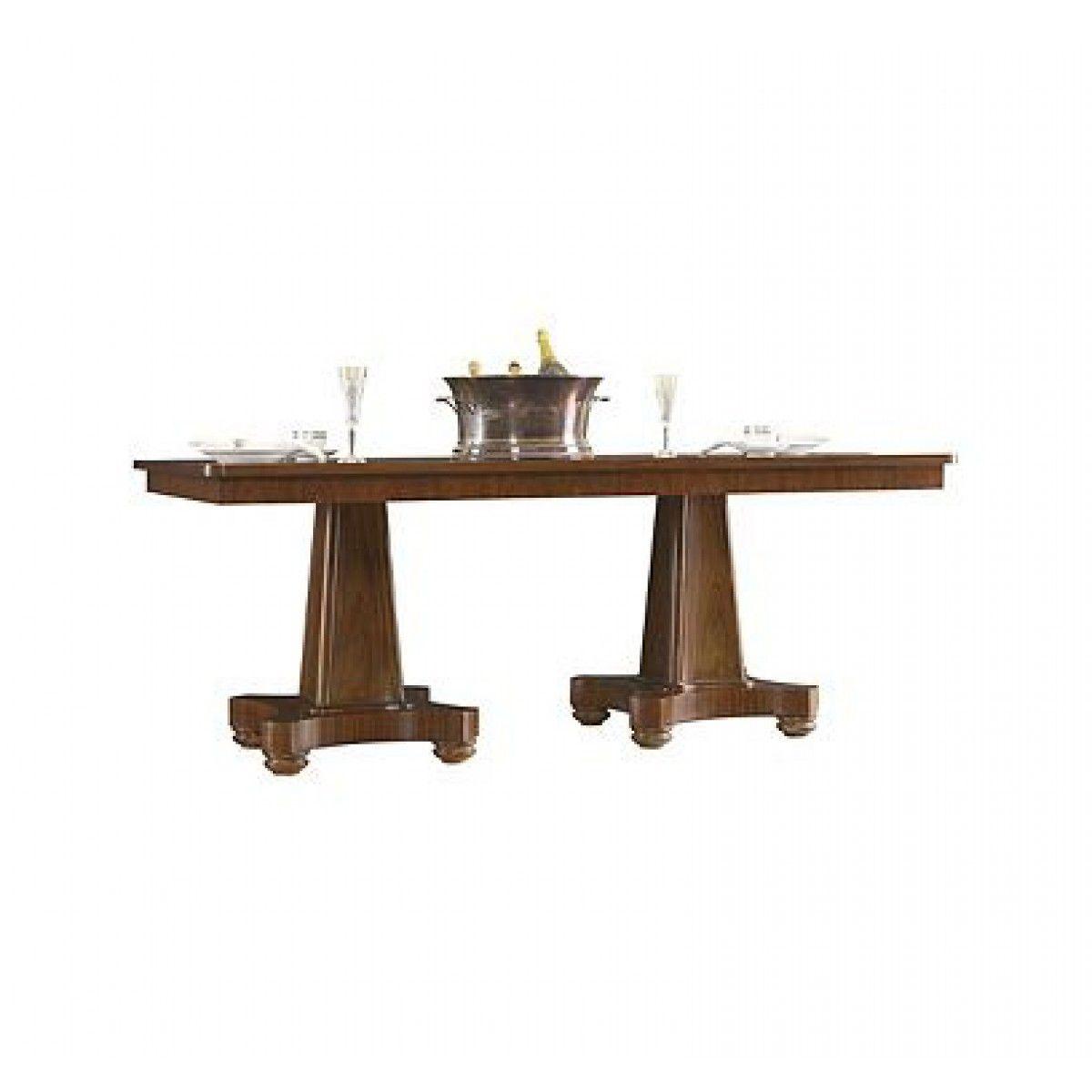 Henredon Modern English Double Pedestal Dining Table Tables For - Modern double pedestal dining table