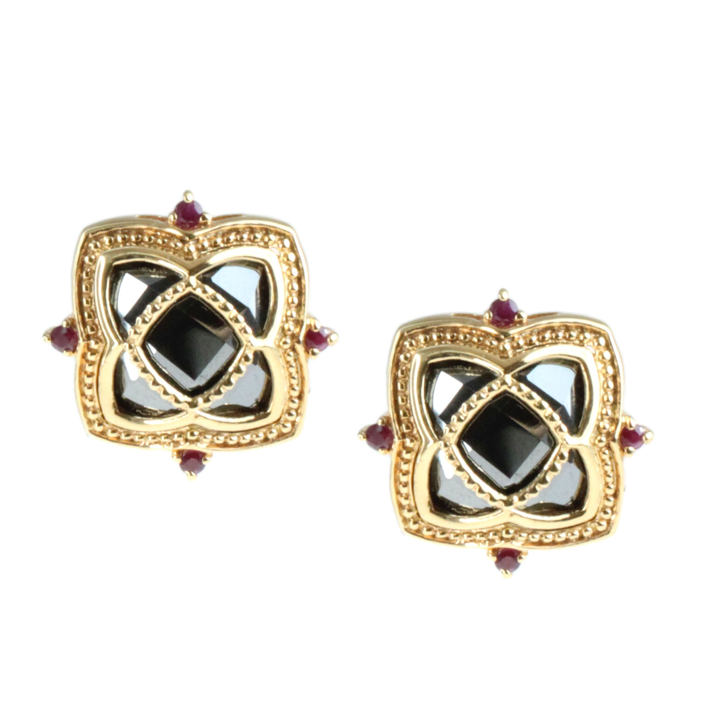 halo of earrings ruby diamond house white with stud product gold