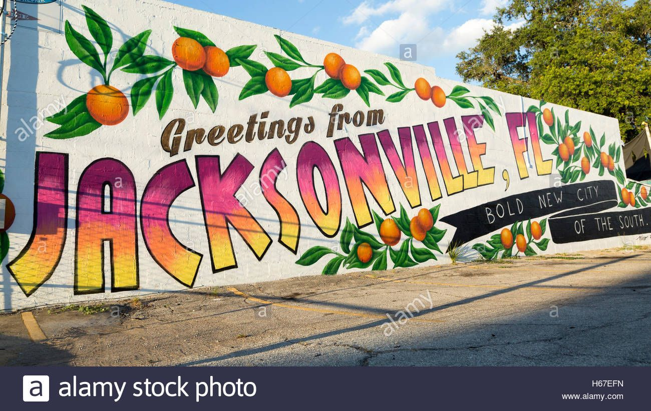 Download This Stock Image Wall Mural Jacksonville Florida H67efn From Alamy S Library Of Millions Of High Res Florida Images Murals Street Art Florida Art