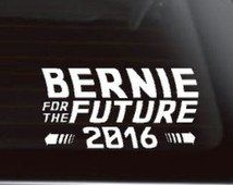 Bernie For The Future 2016 Funny Bernie Sanders Back To The Future 6 White Car Truck Vinyl Decal Art Wall Sticker USA Candidates President Vote Polls Campaign White House Awesome Democrat Election ** Visit the image link more details.