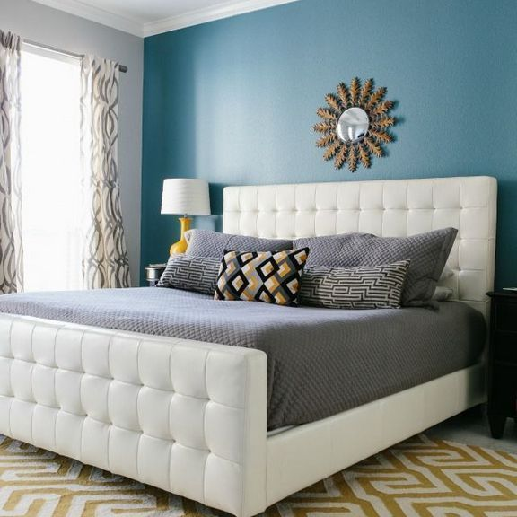 Accented Neutral Color Scheme Bedroom: 34The Advantages Of Grey Bedroom Ideas With Pop Of Color
