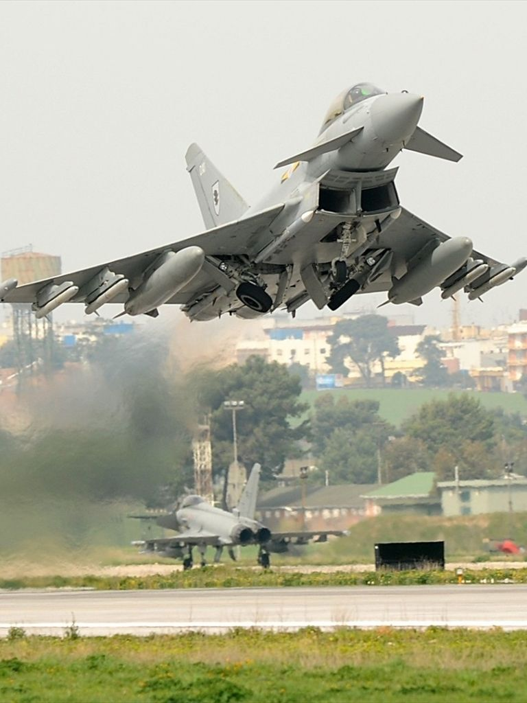 Обои fighter, military, eurofighter, Typhoon. Авиация foto 17