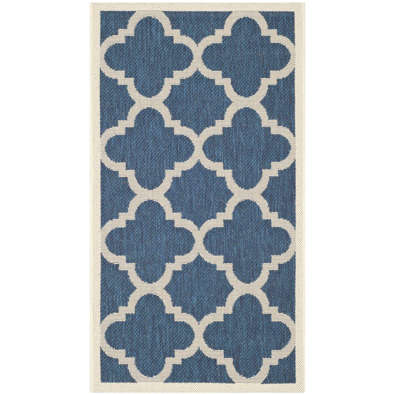 safavieh chandler tapis polypropylne bleu marinebeige 78 x 152 cm amazonfr cuisine maison - Tapis Bleu Marine