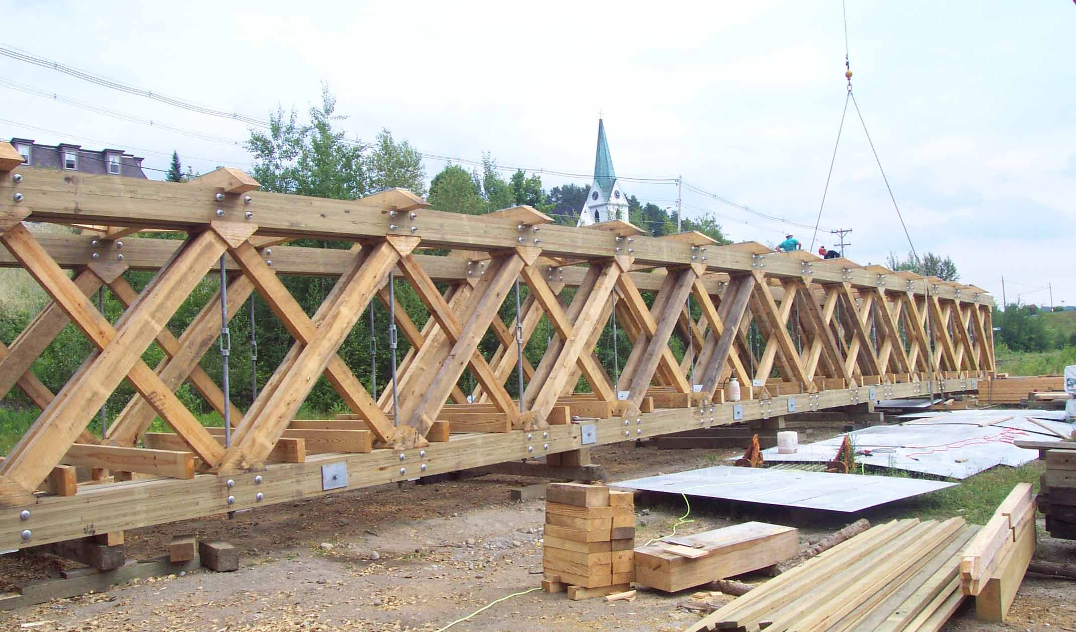 R sultats de recherche d 39 images pour pratt wood girder for Timber frame bridge