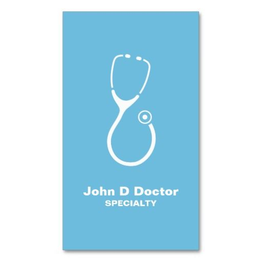 Medical Doctor Or Healthcare Business Cards  Medical Health