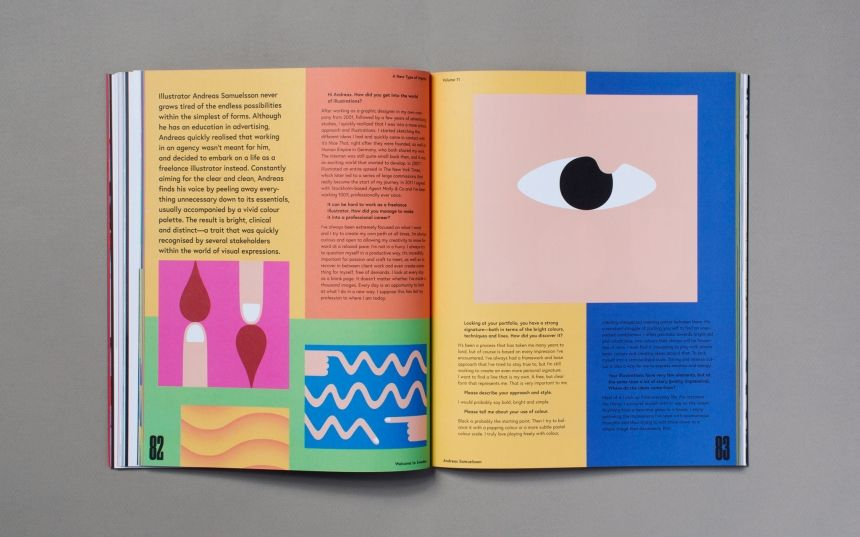 A New Type Of Imprint Block Colours Sectioned Nordic Design Book Design Layout Book And Magazine Design Zine Design