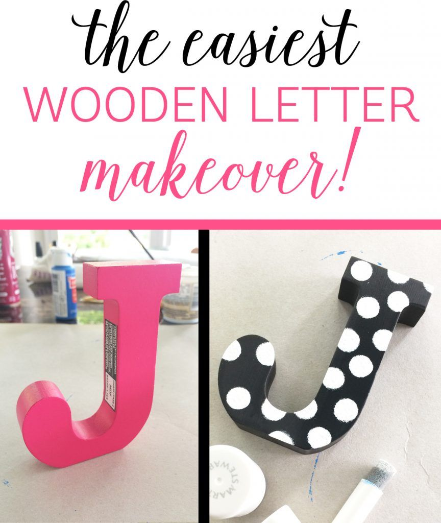 The Easiest Wooden Letter Makeover Ever! | Riss Home Design | Home ...