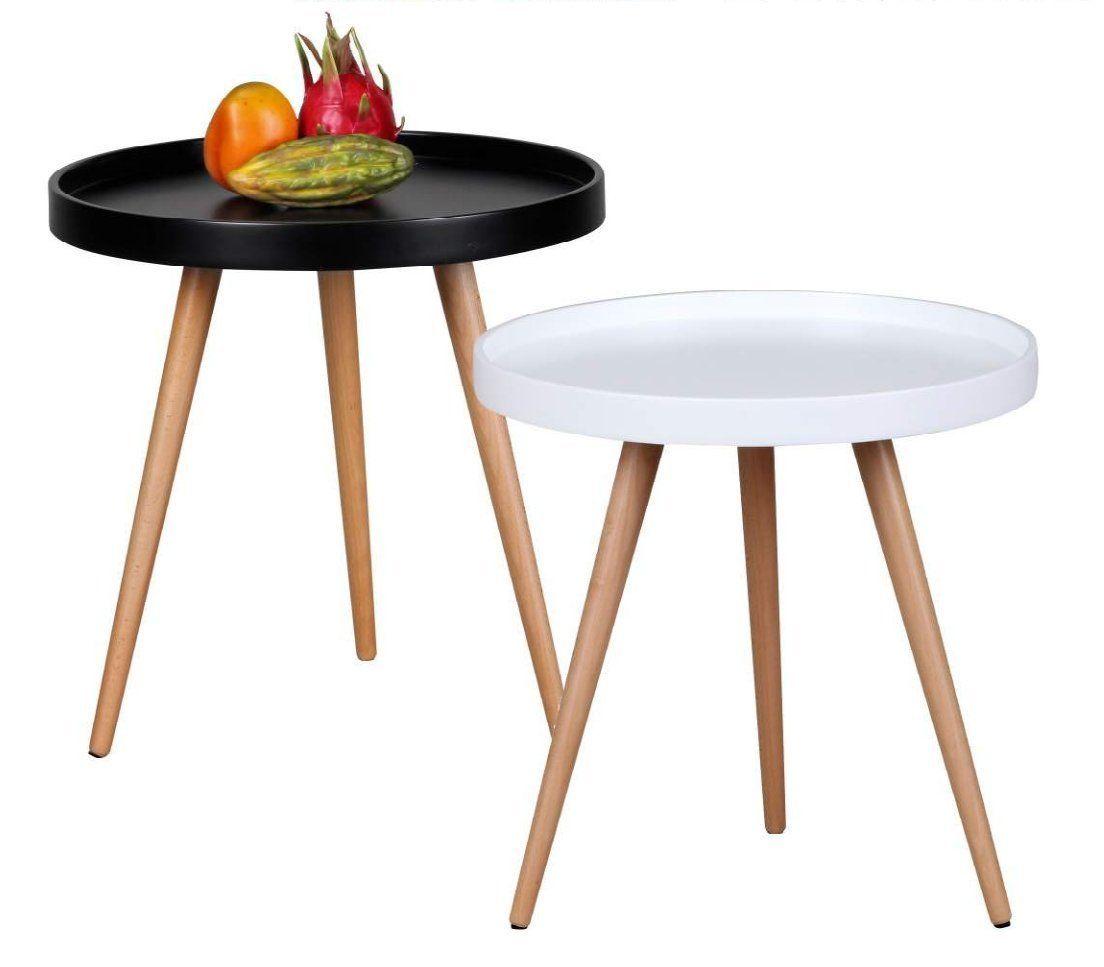 Design Couchtisch Skandi O 50 Cm X 50 Cm Form Rund Skandinavischer